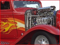 Hotrod with red flame job